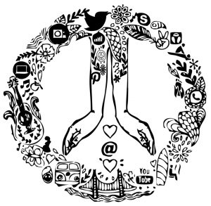 Beeldmerk Peace & Love