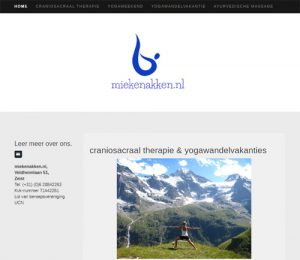 Screenshot website Mieke Nakken